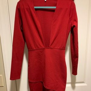 BRAND NEW red long sleeve dress